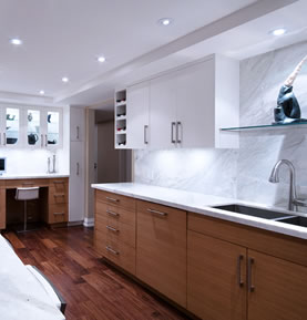 Allegro Interiors Toronto Interior Decorating and Design Lakeside Kitchen: Let there be Light