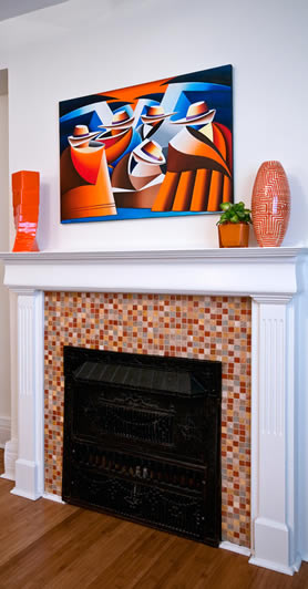 Allegro Interiors Toronto Interior Decorating and Design Fireplace